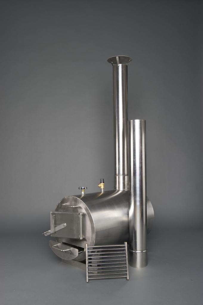External wood fired heater