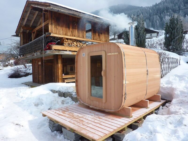Wooden Outdoor Sauna Made In France O Biozz