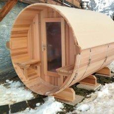 sauna bulle avec porche